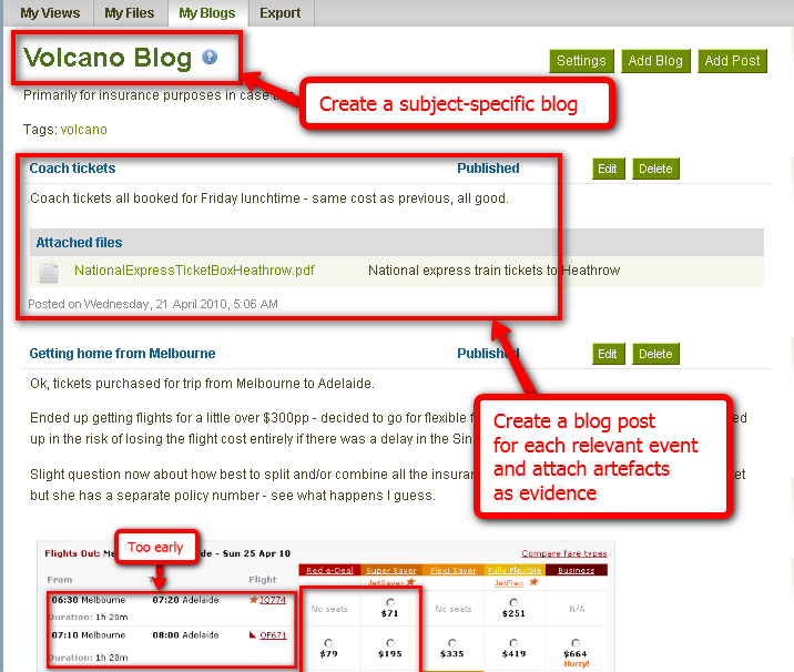 Create a subject-specific blog